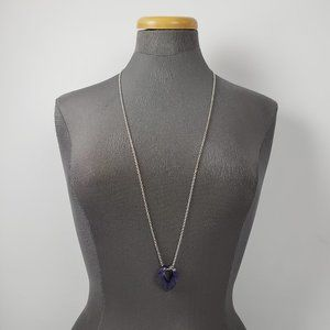 Color By Amber Silver & Purple Necklace